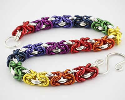 Weave Got Maille Rainbow Byzantine Bracelet Kit