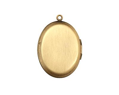 Antique Brass (plated) Oval Baroque Heirloom Locket 22x31mm