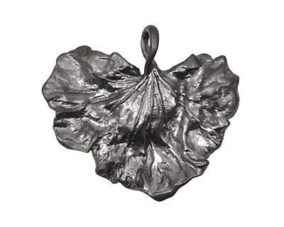 Ezel Findings Gunmetal Cabbage Leaf Link 30x27mm