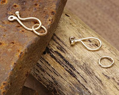 Nina Designs Natural Bronze Hook & Eye Clasp 22x8mm