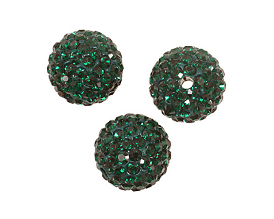 Emerald Pave Round 12mm (1.5mm hole)