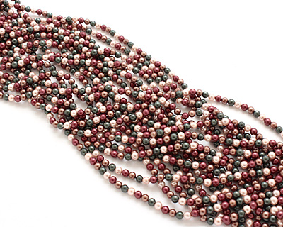 Cordial Shell Pearl Mix Round 4mm
