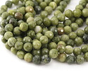 Olive Jade Faceted Round 11.5-12mm