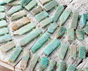 Brazil Amazonite Graduated Slice Drops 10-14x19-58mm