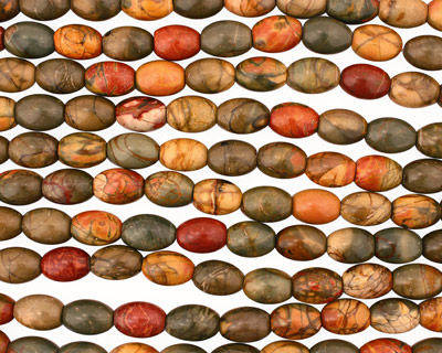 Red Creek Jasper Rice 16x12mm