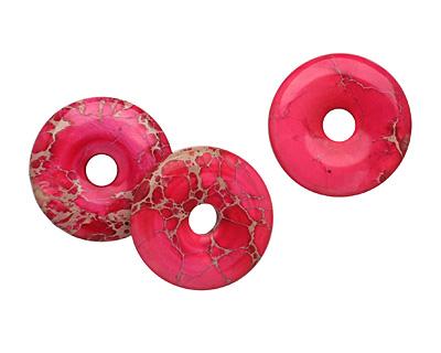 Ruby Impression Jasper Donut 30mm