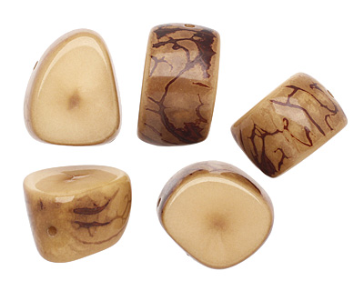 Tagua Nut Parchment Thick Slice 16-18x26-32mm