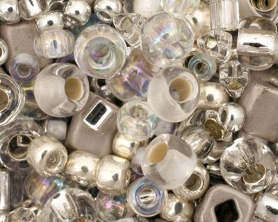 TOHO Junpaku Crystal/Silver Seed Bead Mix