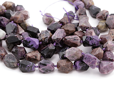 Charoite Faceted Nugget 21-23x13-15mm