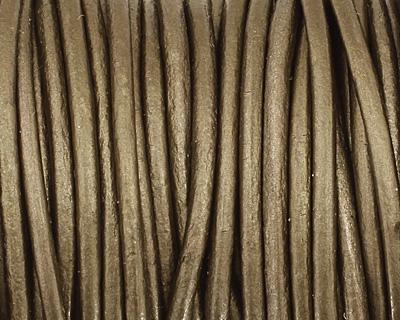 Gauriya (metallic) Round Leather Cord 2mm