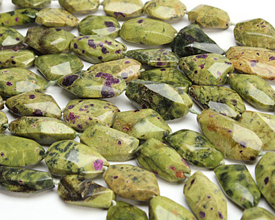 Stichtite Faceted Nugget 19-27x13-18mm