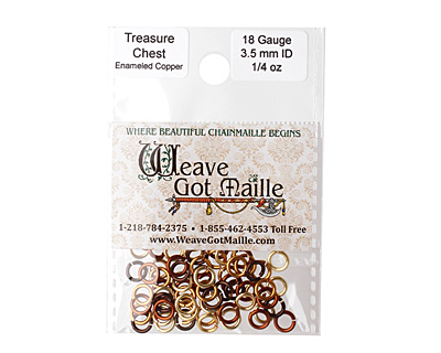 Treasure Chest Mix Enameled Copper Round Jump Ring 5mm, 18 gauge