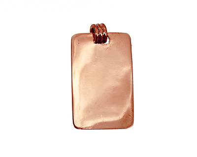 Copper Lipped Rectangle Bezel 15x28mm