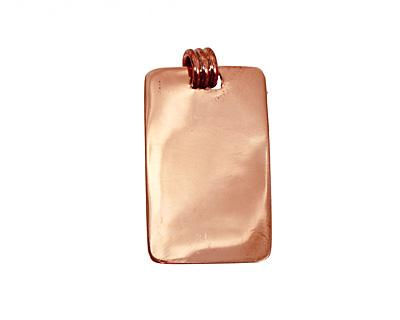Copper Lipped Rectangle Bezel 15x28mm
