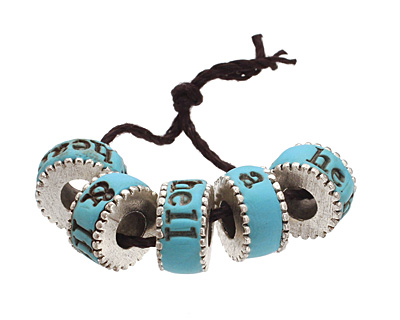 Swoondimples Polymer Clay Turquoise w/ Antique Silver