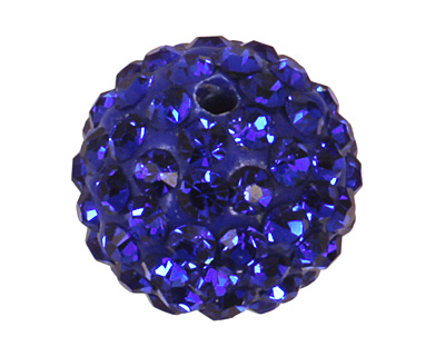 Cobalt Pave Round 10mm (1.5mm hole)