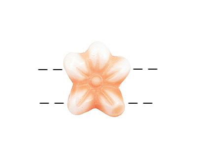 Czech Glass Cherry Blossom 2-Hole Flower 11x13mm