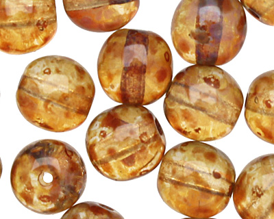 Czech Glass Crystal Picasso Round 6mm