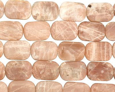 Peach Moonstone Thin Pillow 25x18mm