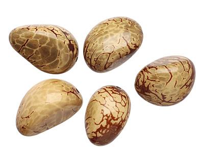 Tagua Nut Olive Nugget 40-45x32-36mm
