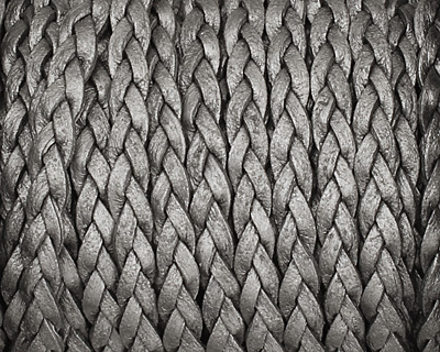 Grey (metallic) Flat Braided Leather Cord 5mm