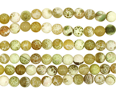 Lime Fire Agate Round 8mm