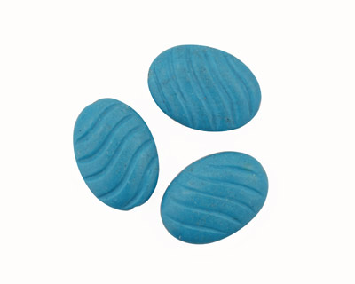 Howlite Turquoise Carved Oval 35x25mm
