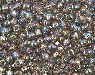 TOHO Transparent Rainbow Gray Round 11/0 Seed Bead