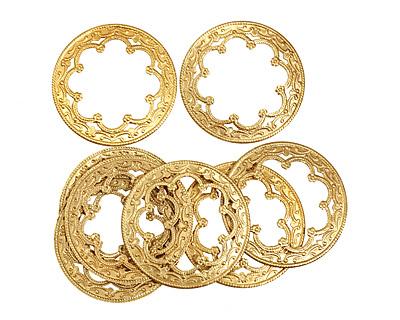 Brass Ornate Ring 35mm