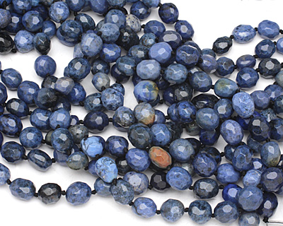 Sunset Dumortierite Faceted Nugget 12-15x12-14mm