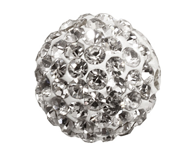 Crystal Pave Round 12mm