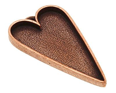 Nunn Design Antique Copper (plated) Grande Heart Bezel Pendant 54x29mm