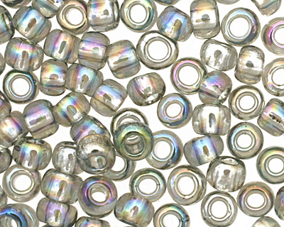 TOHO Transparent Rainbow Black Diamond Round 8/0 Seed Bead