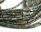 African Turquoise Tube 13x4mm