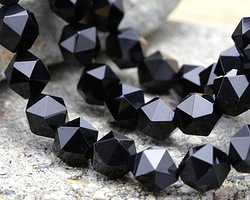 Black Onyx Star Cut Round 11-12mm
