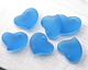 Pacific Blue Recycled Glass Puffed Sweeping Heart Pendant 19x18mm