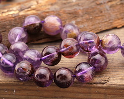 Purple Phantom Quartz (Auralite-23) Round 10mm