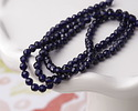 Navy Blue Agate Faceted Round 3mm