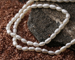 Pearly White Freshwater Rice Pearl 4-4.5mm