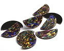 Zola Elements Abalone Acetate Half Circle Y-Connector 30x15mm