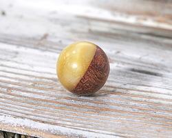 Walnut Wood & Butter Resin Bead 15mm