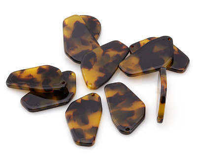 Zola Elements Tortoise Shell Acetate Freeform Cut Focal 16x28mm