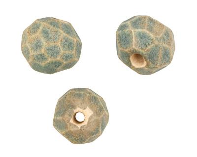 Gaea Ceramic Antique Geode Round 11-12x13-14mm