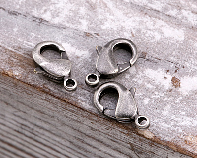 Antique Silver (plated) Lobster Clasp 12x7mm