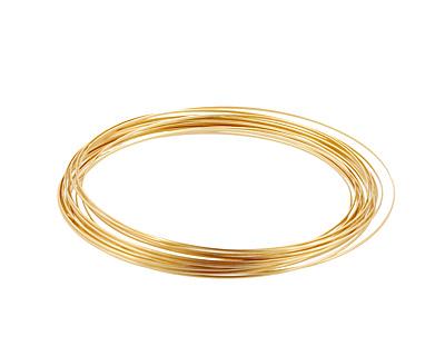 German Style Wire Non Tarnish Brass Half Round 21 gauge, 4 meters