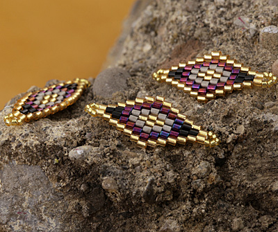 Vineyard Hand Woven Diamond 32x13mm
