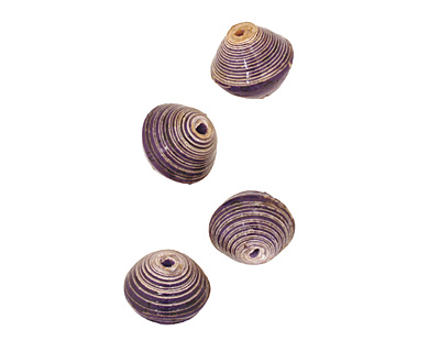 African Paper (violet) Bicone 14-15x16-17mm
