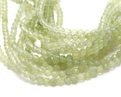 New Jade Faceted Round 6mm