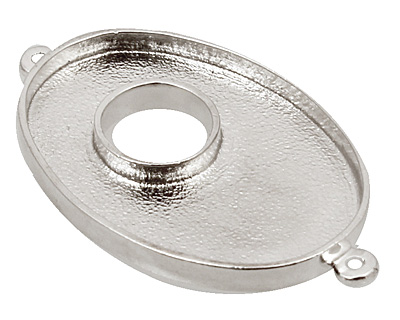 Nunn Design Sterling Silver (plated) Grande Oval Bezel Toggle Link 47x28mm