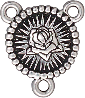 TierraCast Antique Silver (plated) Our Lady Link 19x22mm